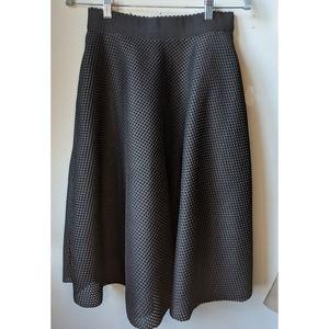 New Look Black Textured Skirt